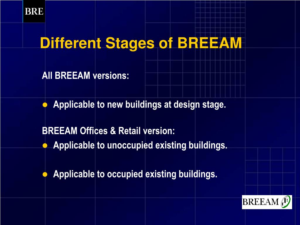 Different Stages of BREEAM