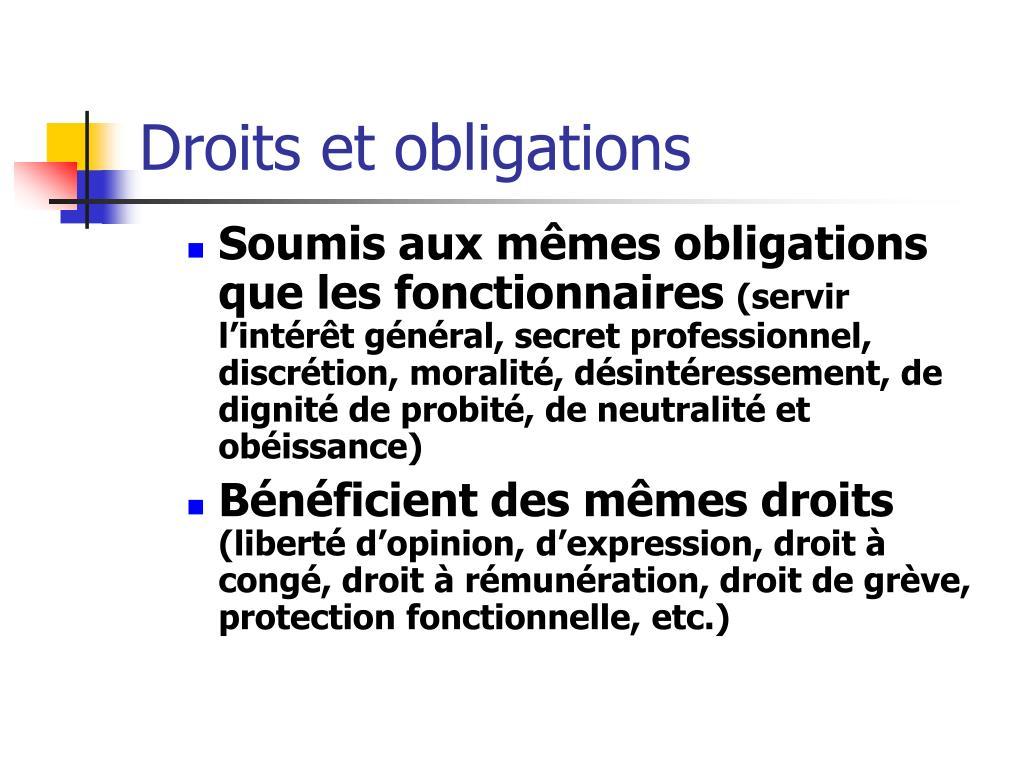 Droits et obligations
