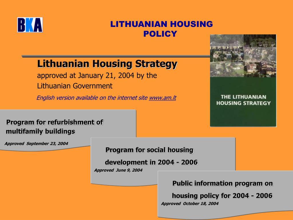 LITHUANIAN HOUSING