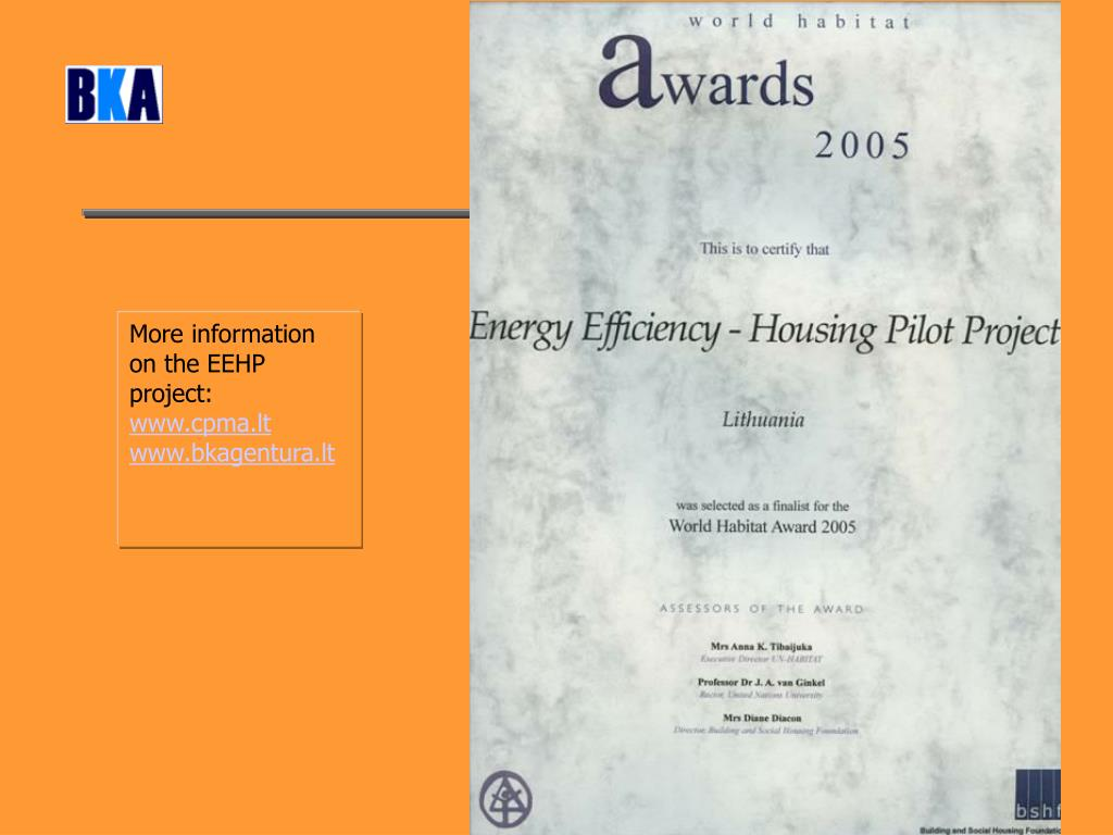 More information on the EEHP project: