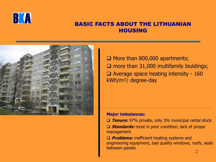 BASIC FACTS ABOUT THE LITHUANIAN HOUSING
