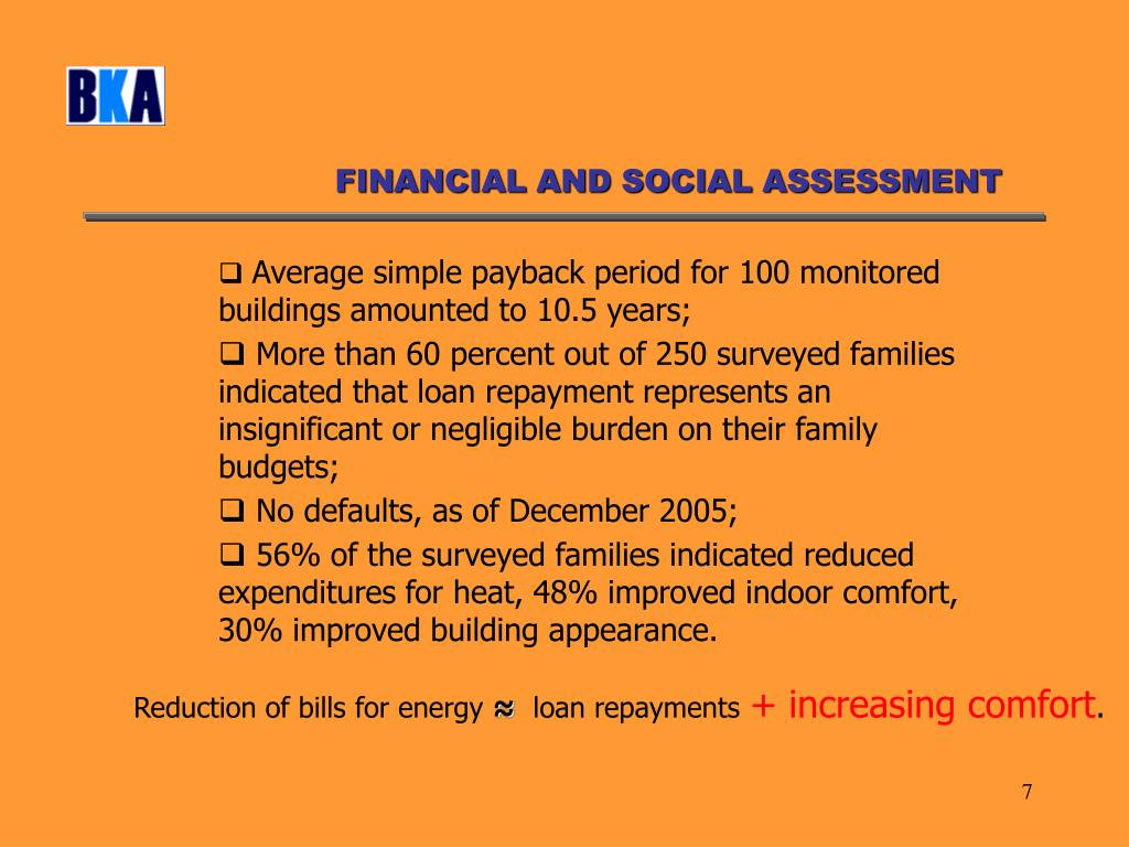 FINANCIAL AND SOCIAL ASSESSMENT