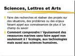 sciences lettres et arts