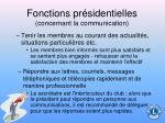 fonctions pr sidentielles concernant la communication93