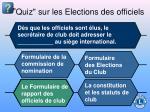 quiz sur les elections des officiels72