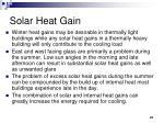 solar heat gain27