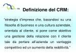 definizione del crm