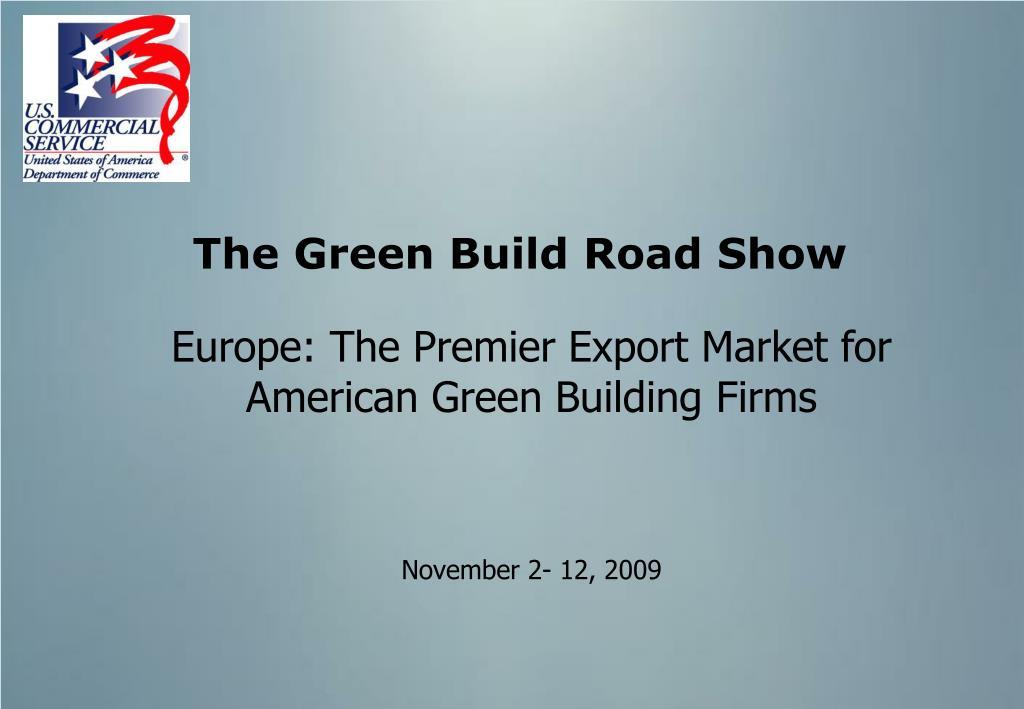 the green build road show l.