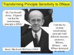 transforming principle sensitivity to dnase