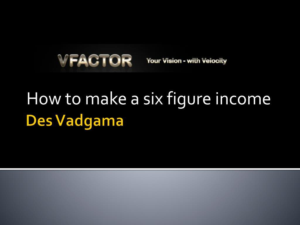 how to make a six figure income l.