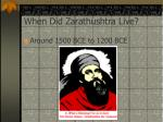 when did zarathushtra live