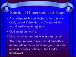 spiritual dimensions of israel