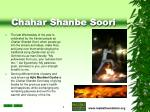 chahar shanbe soori