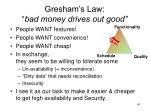 gresham s law bad money drives out good