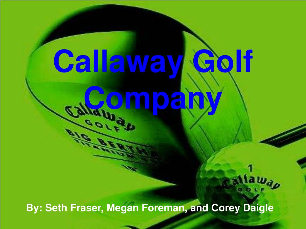 17+ Callaway golf mission statement viral