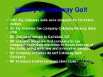 history of callaway golf