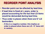 reorder point analysis