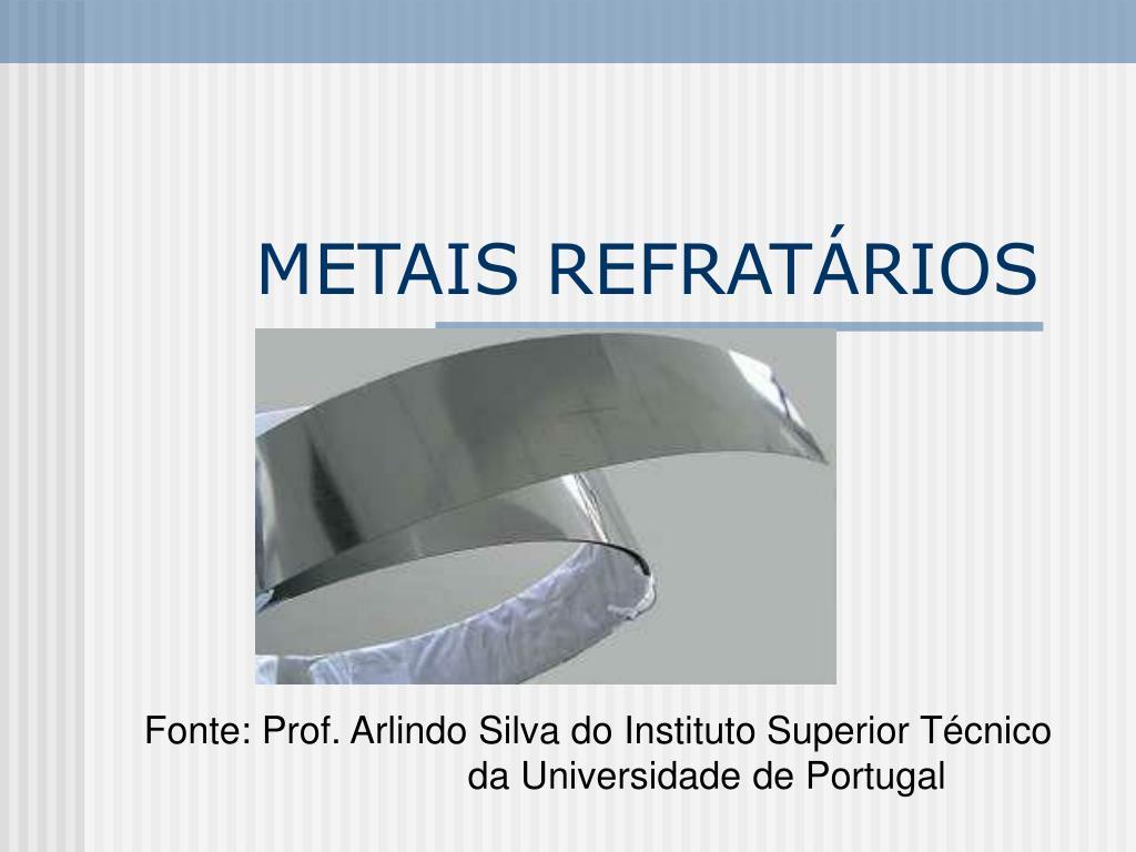 metais refrat rios l.