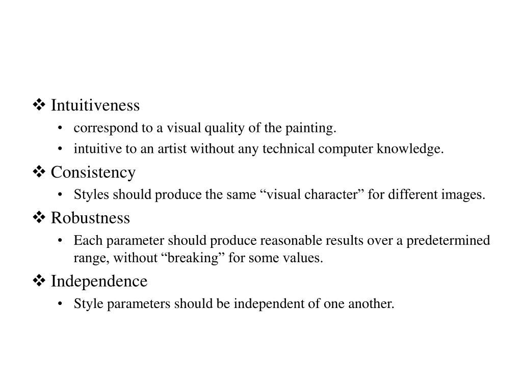 Intuitiveness