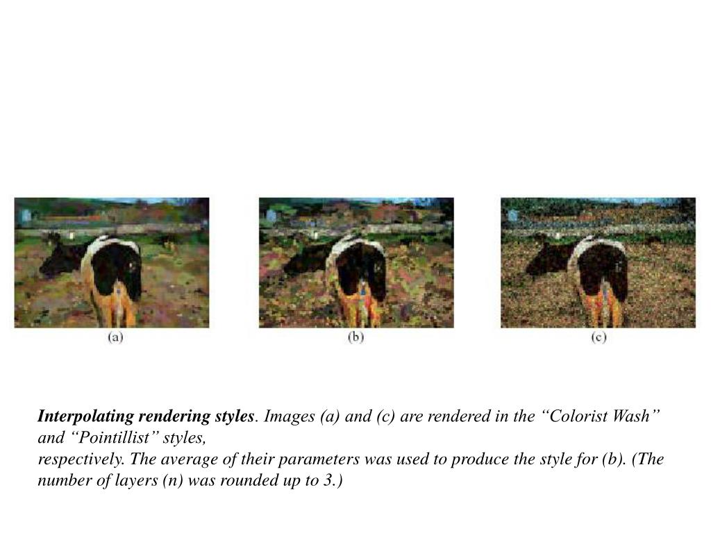 Interpolating rendering styles