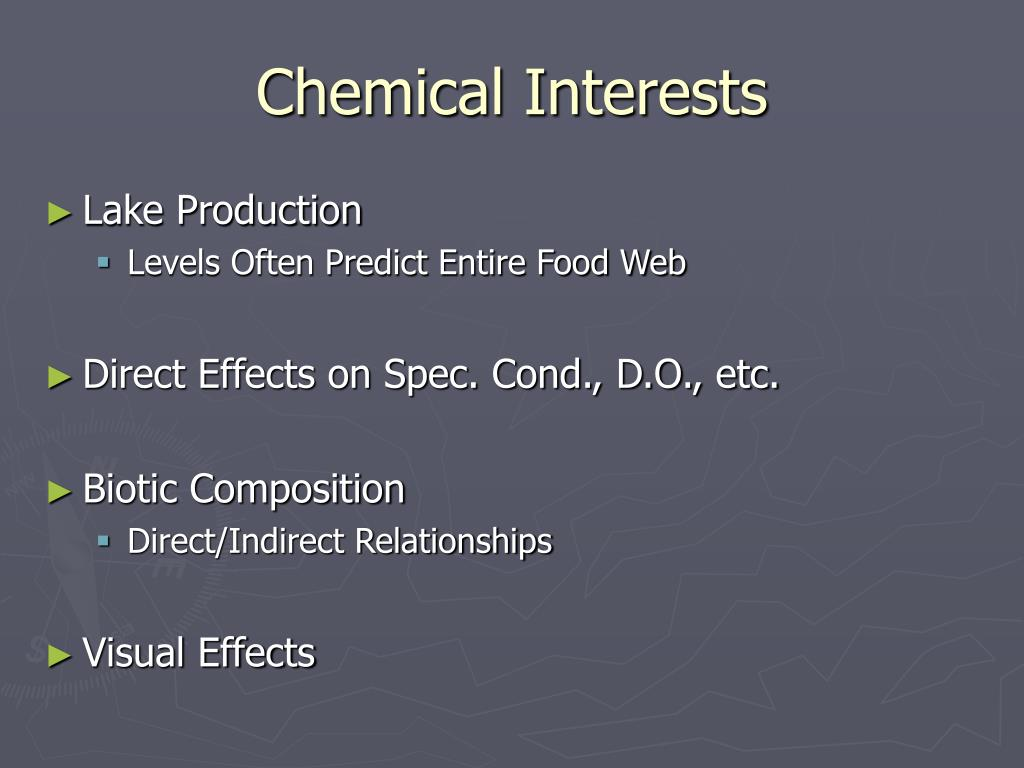 Chemical Interests