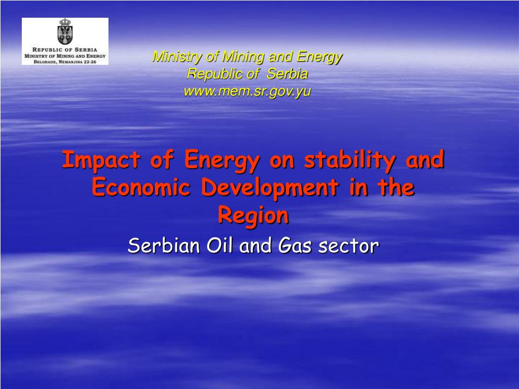 ministry of mining and energy republic of serbia www mem sr gov yu l.