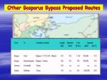 other bosporus bypass proposed routes