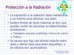 protecci n a la radiaci n