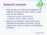 radiaci n ionizante