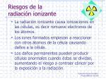 riesgos de la radiaci n ionizante