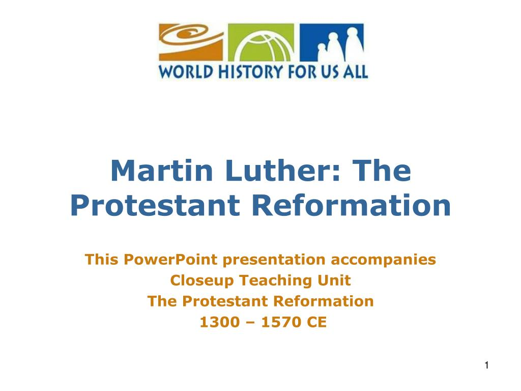 martin luther the protestant reformation l.