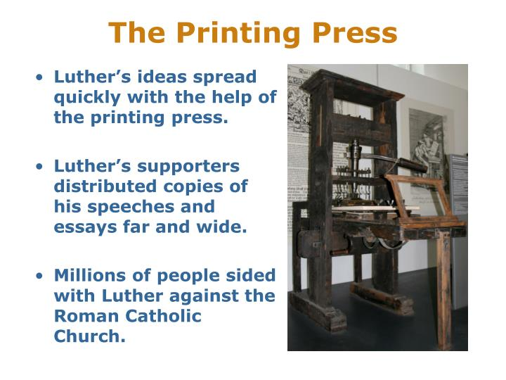 printing press consequences Gutenberg's printing press spread literature to the masses for the first time in an efficient, durable way, shoving europe headlong into the original information age – the renaissance perfect machine gutenberg often gets credit as the father of printing, but the chinese had him beat, in fact, by a full thousand years.