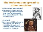 the reformation spread to other countries