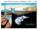 dali the persistence of memory 1931