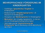 mehrsprachige f rderung im kindergarten
