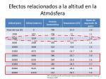 efectos relacionados a la altitud en la atm sfera