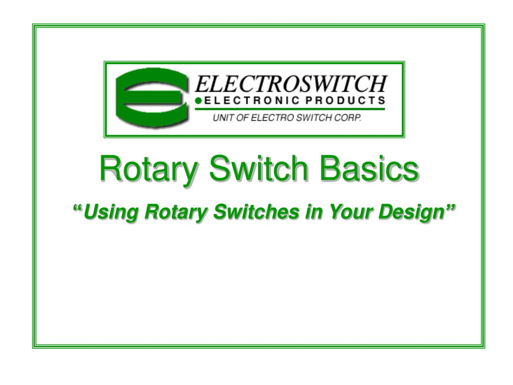 rotary switch basics using rotary switches in your design l.