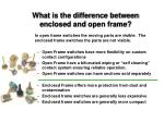 what is the difference between enclosed and open frame