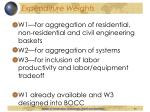 expenditure weights30