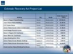 colorado recovery act project list