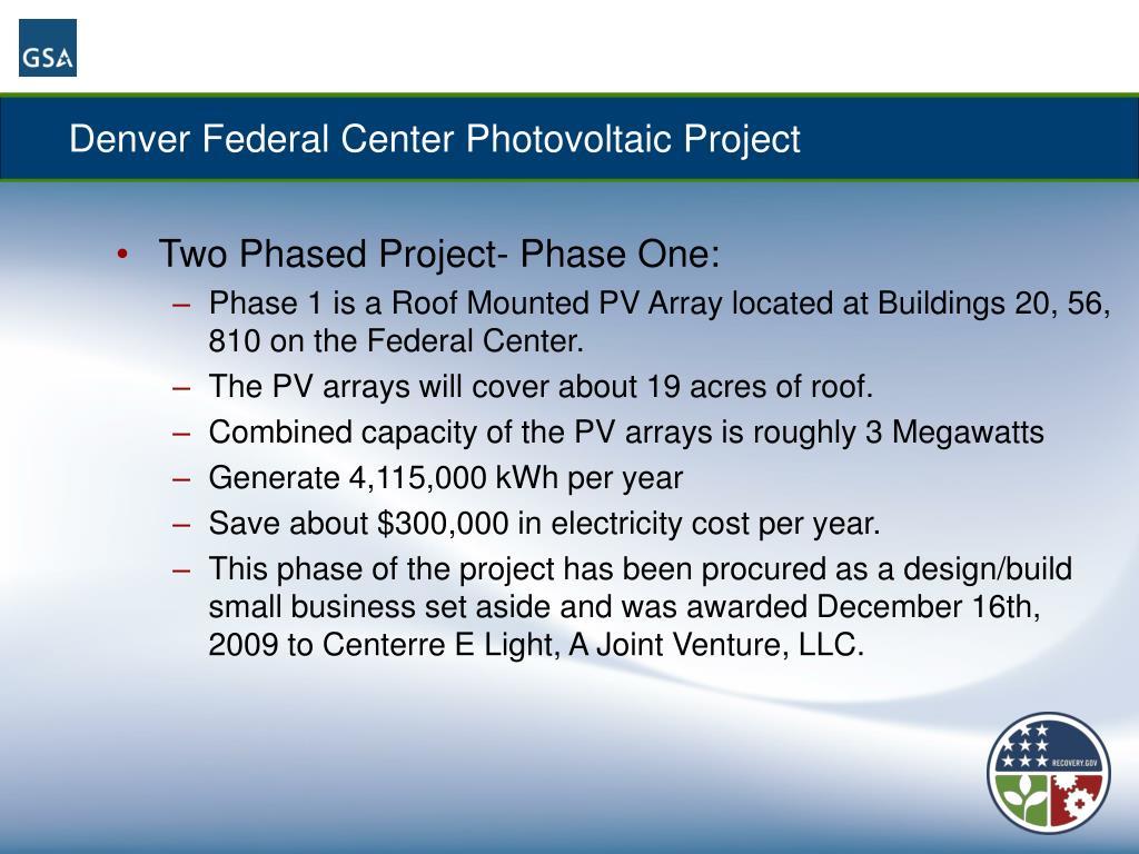 Denver Federal Center Photovoltaic Project
