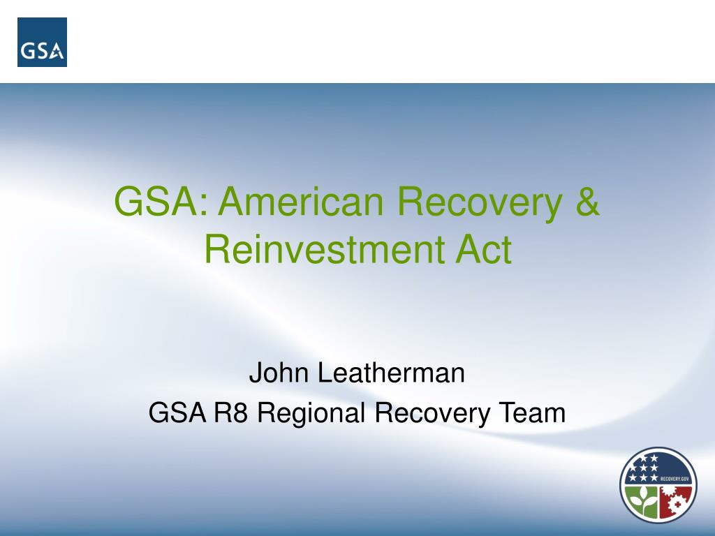 gsa american recovery reinvestment act l.