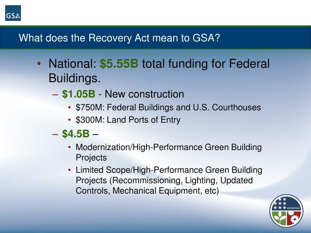 What does the Recovery Act mean to GSA?