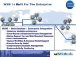 wsbi is built for the enterprise