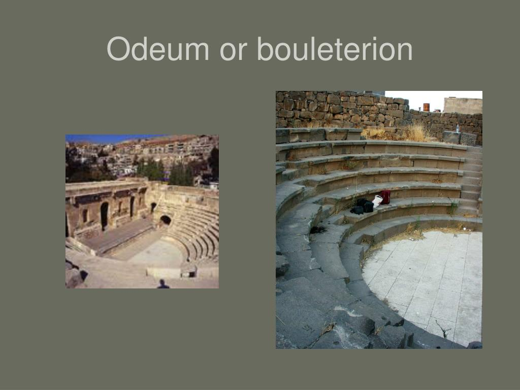 Odeum or bouleterion