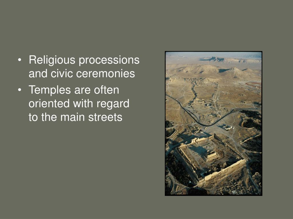 Religious processions and civic ceremonies