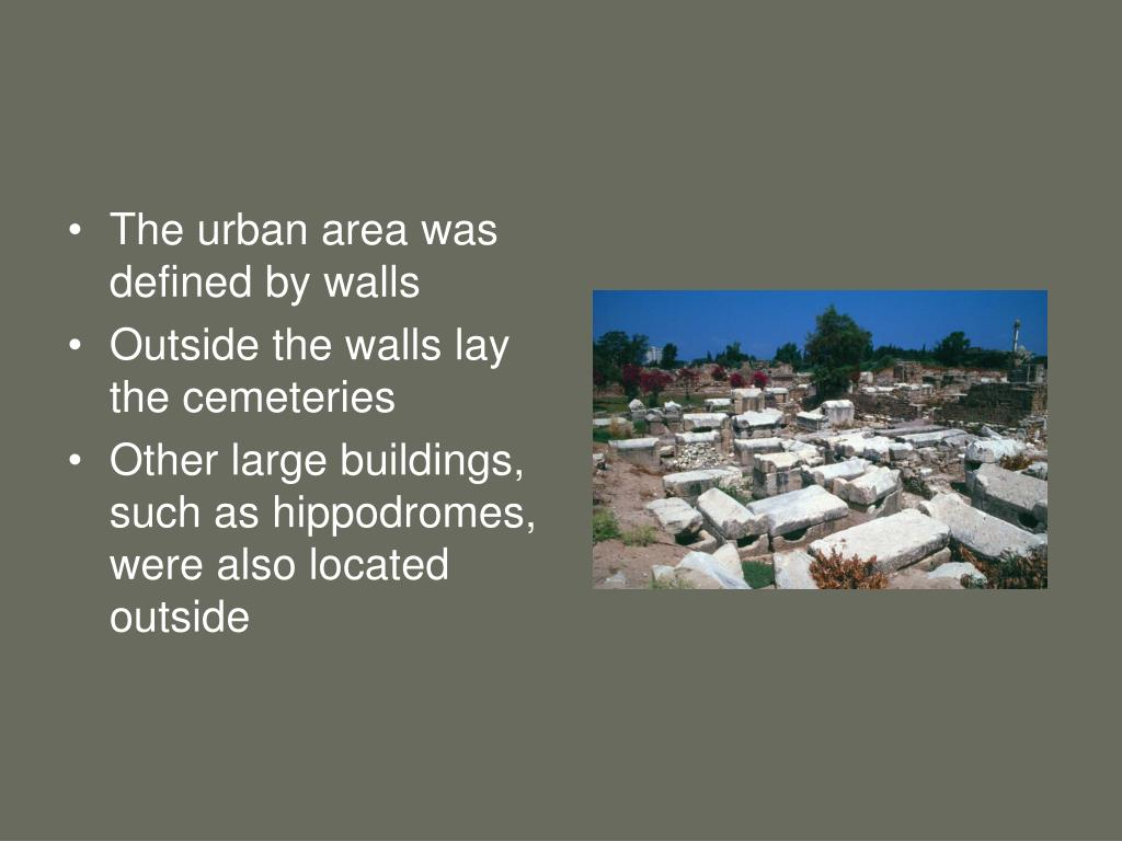 The urban area was defined by walls