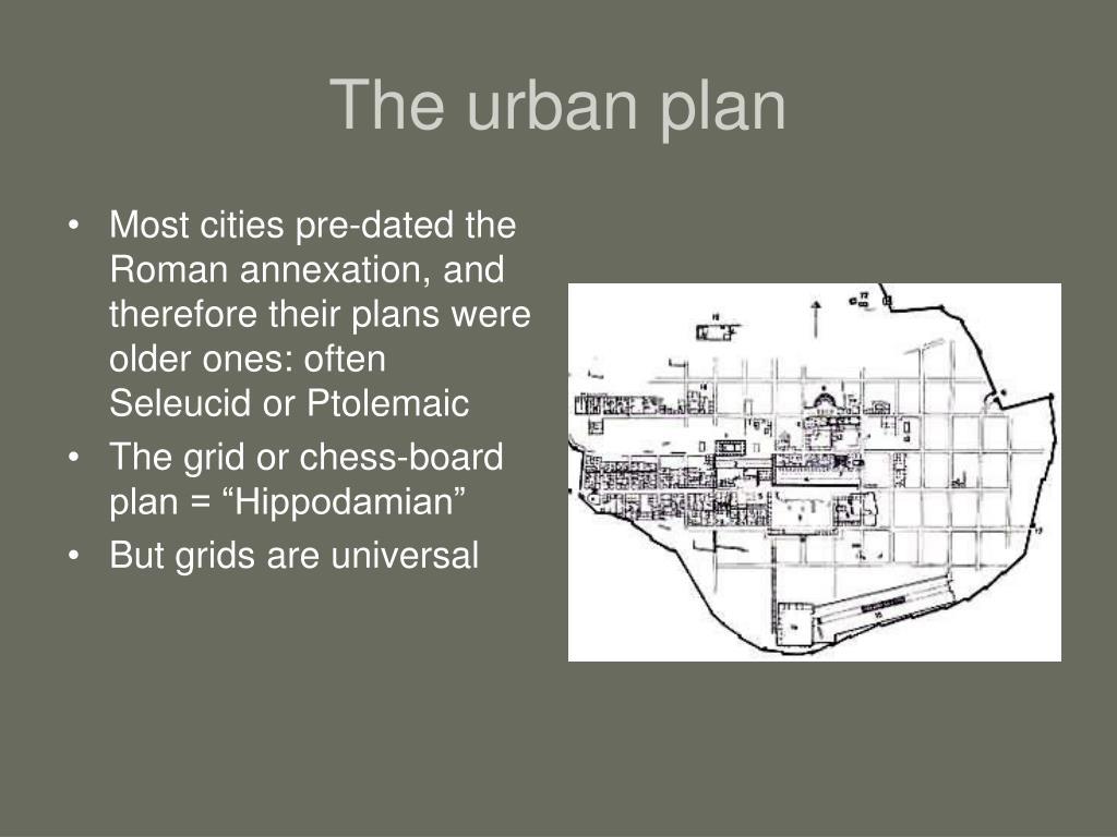 The urban plan
