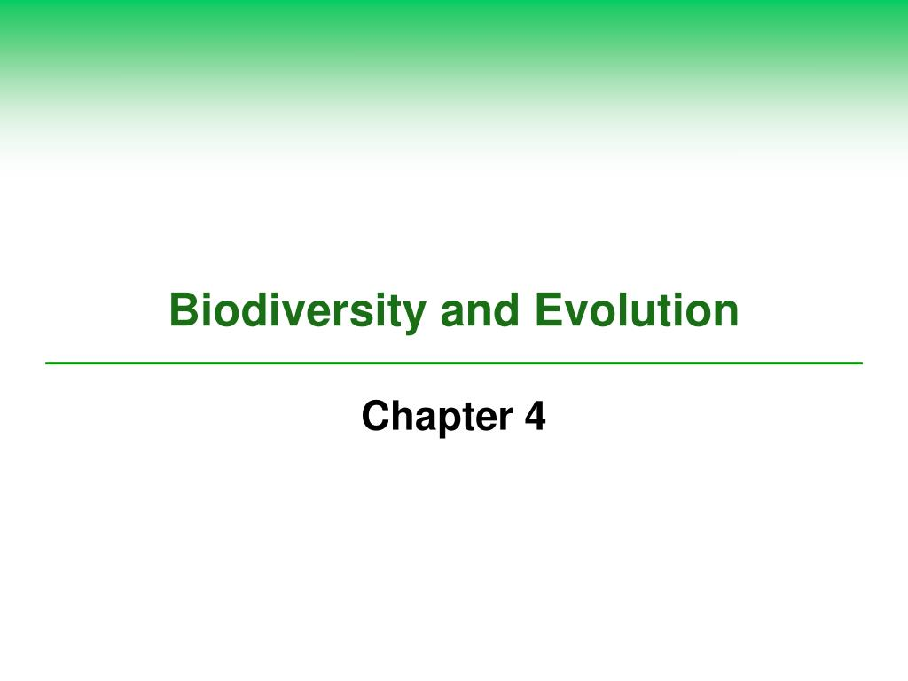 biodiversity and evolution l.