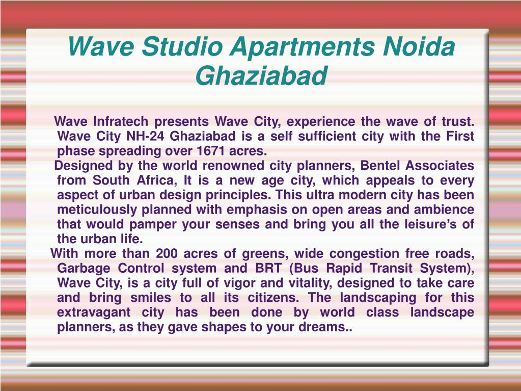 wave studio apartments noida ghaziabad l.